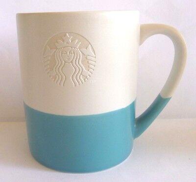 (Starbucks Blue/White Stacking Mug/mermaid logo/14 oz )