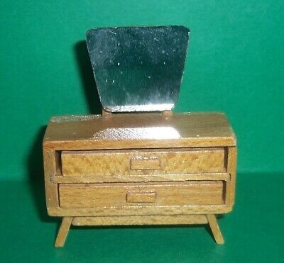 VINTAGE DOLLS HOUSE DOL TOI CONTEMPORARY DRESSING TABLE 16th LUNDBY SCALE