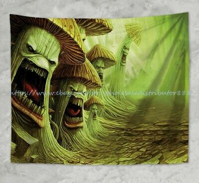 US SELLER-shroom psychedelic trippy wall hanging tapestry modern decor ideas - Decoration Ideas
