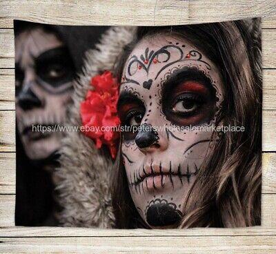 US SELLER, home wall decor Mexican Day of Dead Dia de los Muertos art tapestry