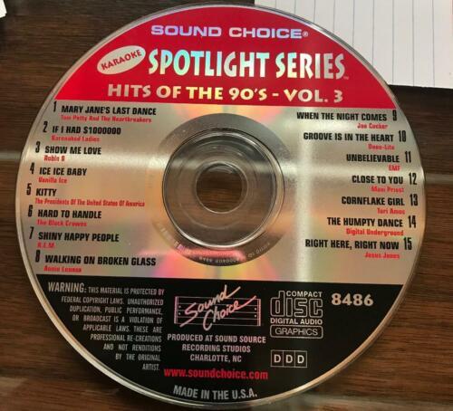SOUND CHOICE KARAOKE SPOTLIGHT SERIES CD+G - 8486 - HITS OF THE 90