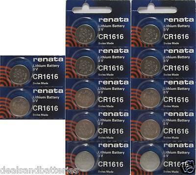 12 Renata CR1632 1632 3V Lithium Coin Batteries