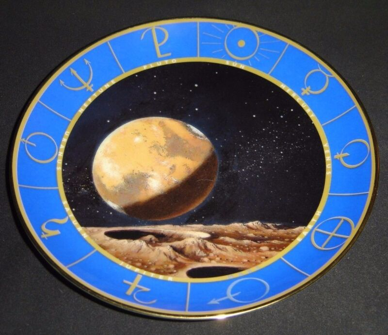 Mars The Red Planet Rare Limited Porcelain Collectors Plate By Vincent Di Fate