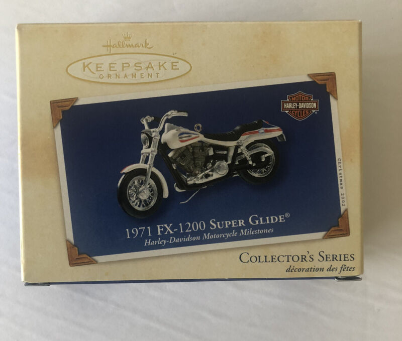 HALLMARK HARLEY-DAVIDSON 1971 FX-1200 SUPER GLIDE MOTORCYCLE ORNAMENT IN BOX