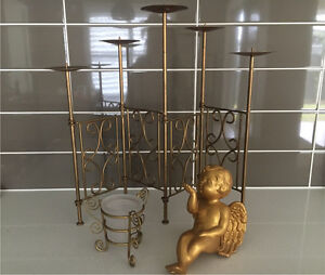 New gold candelabra set North St Marys Penrith Area Preview