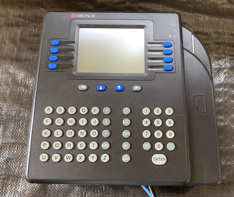 Kronos System 4500 Time Clock Swipe Console 8602800-551