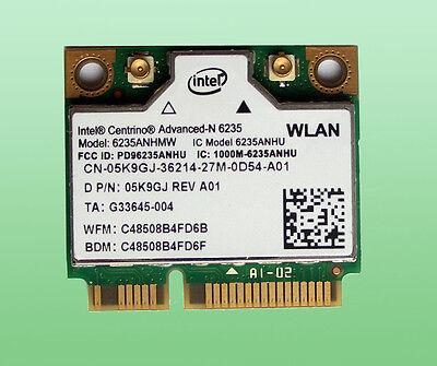 Intel Centrino Advanced-N6235 Wlan 6235ANHMW  Bluetooth 4.0 WiFi 802.11a/b/g/n  802.11 A/b/g/n Bluetooth