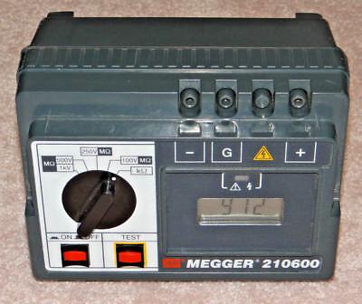 Avo Biddlle Megger 210600 Insulation Lowhi Resistance Tester 1002505001000v