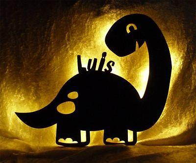 Möbel Fan (Dino Lampe Nachtlicht mit Name nach Wunsch - Geschenke für Dinosaurier Fans)