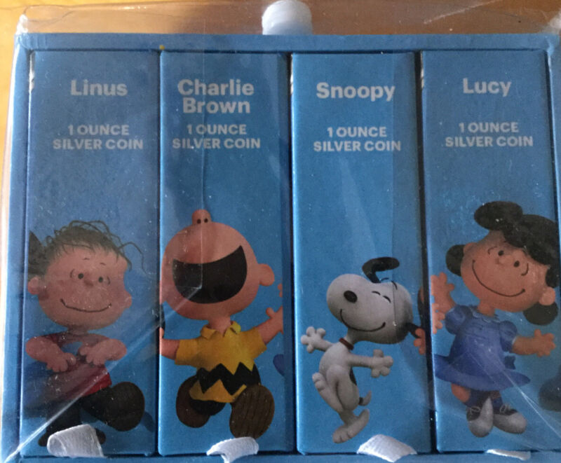 """""""The Peanuts Movie"""" Collectable Silver Coin Set Matching COAs"""