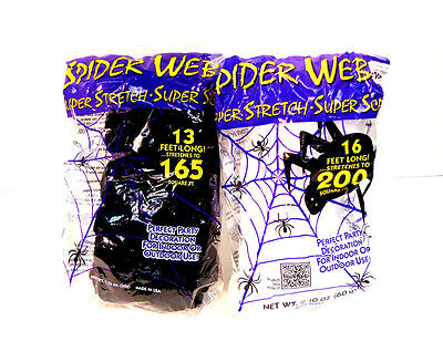Spider Web Super Stretch Halloween Party Decoration Haunted Decor Black or - Halloween Spider Webbing