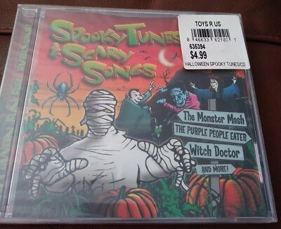 Spooky Tunes & Scary Songs Various Artist Halloween CD Monster Mash Witch Doctor - Monster Mash Halloween Song