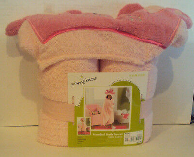 Jumping Beans Brand Pink Princess Hooded Bath Towel 100% Cotton 25 x (Princess Hooded Bath Towel)