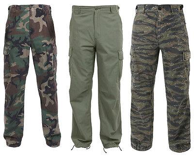 (Fatigue Cargo Pants Camouflage 6 Pocket NEW Vintage Vietnam Era Rip-Stop Rothco)