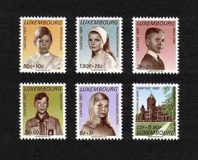 Luxembourg 1967 Welfare/ Royal Children complete set of 6 values (SG 809-14) MNH