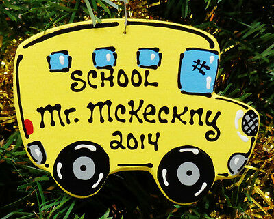 Ornament U CHOOSE NAME & YEAR SCHOOL BUS DRIVER Christmas Kids Personalize Gift