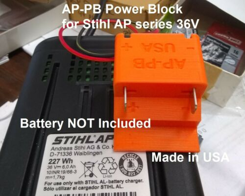 AP300 Battery Power Block Mount Holder for STIHL 36V Wired 14AWG DIY USA AP-PB