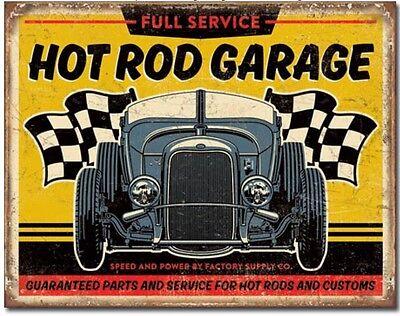 "Hot Rod Garage Metal Tin Sign Garage Home Wall Decor New 16"" X 12.5"""