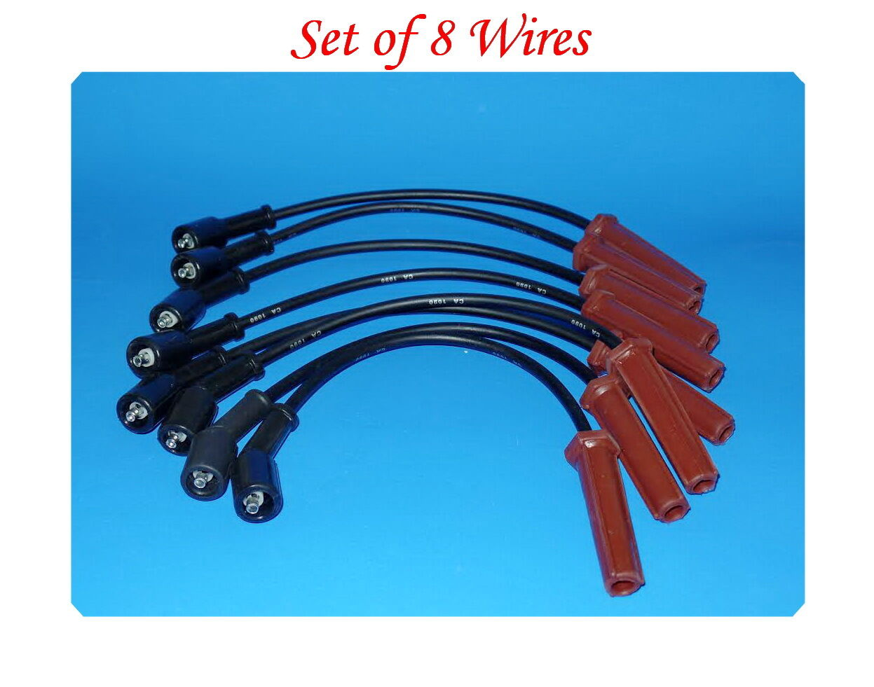 Spark Plug Wire Set 8 Wires For Buick Cadillac Chevrolet GMC Hummer Pontiac Saab