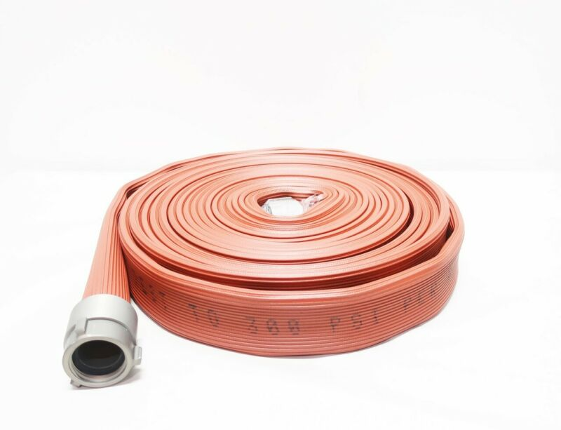 All-american Hose HFX17X50R15N High Pressure Red Rubber 1-1/2in X 50ft Fire Hose