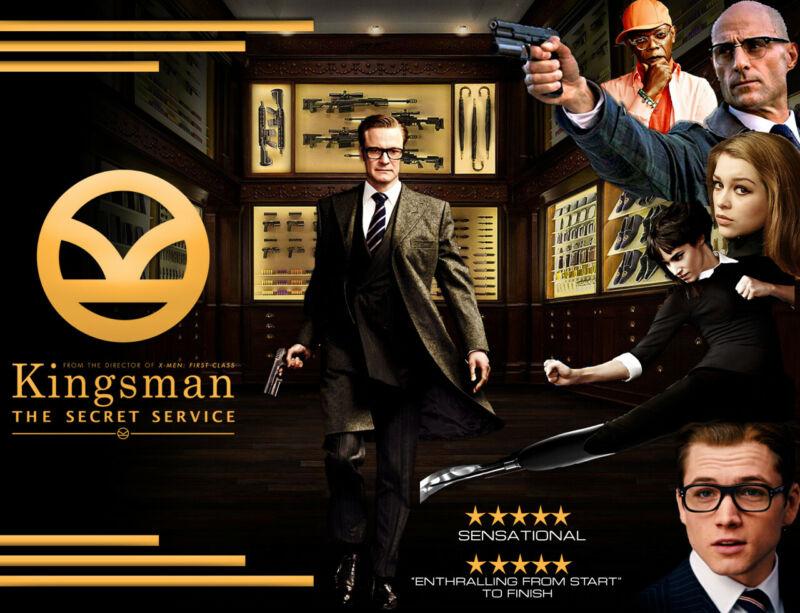 Kingsman The Secret Service 35mm Film Cell strip very Rare var_e