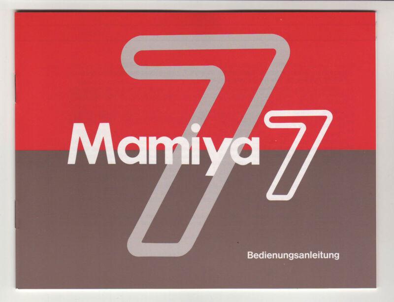 ((( 4 languages to pick ))) MAMIYA 7 INSTRUCTION MANUAL (ORIGINAL PRINT)