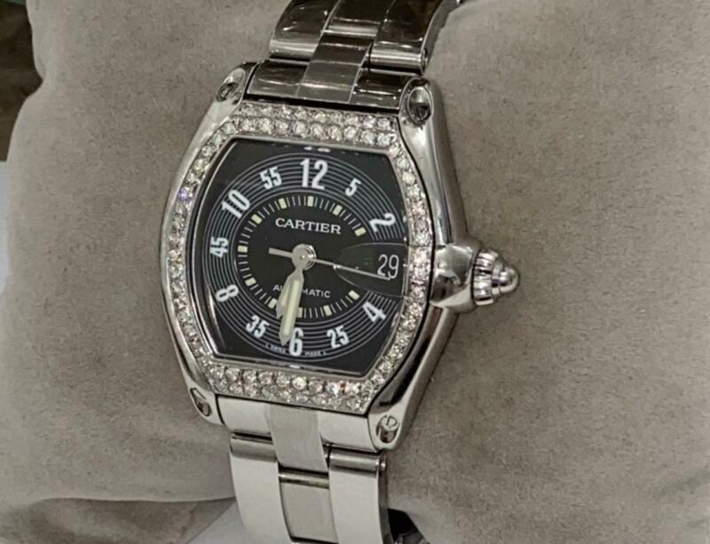 CARTIER MEN'S ROADSTER 2510 AUTOMATIC DIAMOND WATCH - watch picture 1