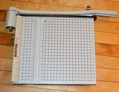 Boston 12 Paper Cutter  Photo Trimmer Model 2612 Great Condition
