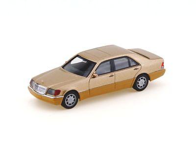 Herpa 038775 - H0: Mercedes-Benz S-Klasse V12 (W140), champagner metallic - NEU