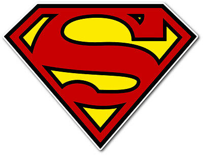 Superman shield logo vinyl decal sticker 2.5