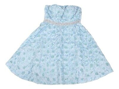 Disney Junior's Size 5 Baby Blue Cinderella Collection Strapless Dress NEW