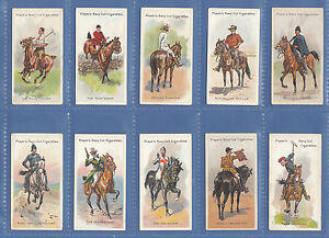 NATIONS - JOHN PLAYER & SONS - SET  OF  50  RIDERS  OF  THE  WORLD  CARDS - 1905