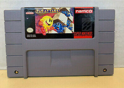 Pac-Attack (Super Nintendo Entertainment System 1993) Authentic Cart Only Tested