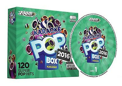 CDG - Zoom Karaoke Pop Box 2016 - 120 Pop Hits - 6 Disc CD+G Set