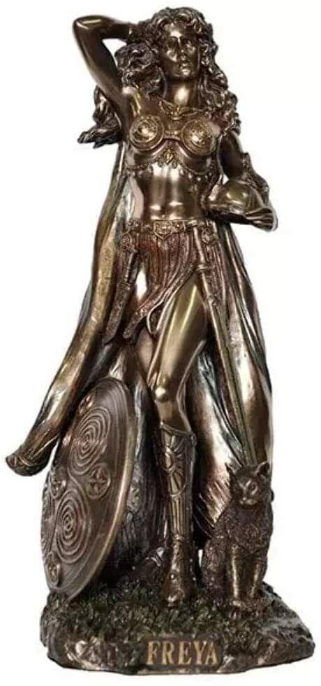 Freya Norse Goddess of Love, Beauty and Fertility Statue Figure Sculpture