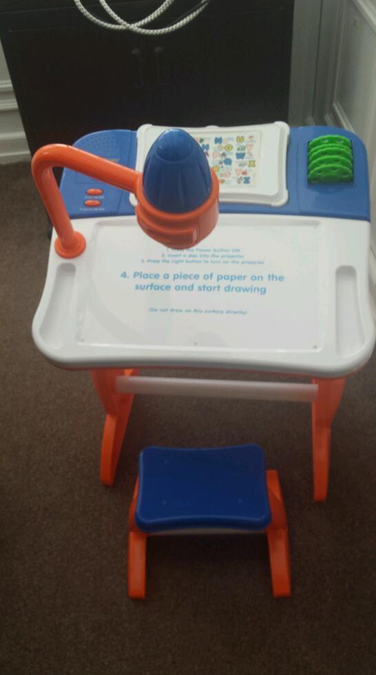 Creativity desk and stool