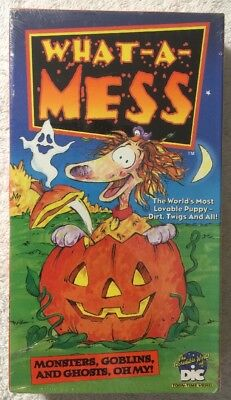 What A Mess: Monsters, Goblins & Ghosts, Oh My! (NEW SEALED VHS) RARE HTF!