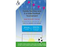 Football tournament and family fun day