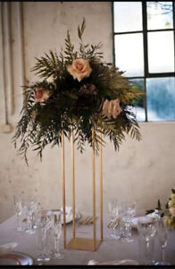 FOR HIRE: Gold Frame Centrepieces