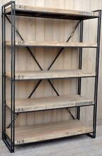 Industrial look Timber & Iron Book Shelf Sandgate Brisbane North East Preview