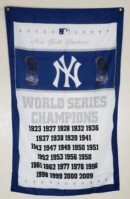 New York Yankees World Series Banner 3x5 Ft Flag Man Cave Gift Baseball MLB