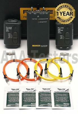Fluke Networks Dsp-ftk Sm Mm Fiber Kit W Ls-13101550 Dsp Fom Fos For Dsp-4000