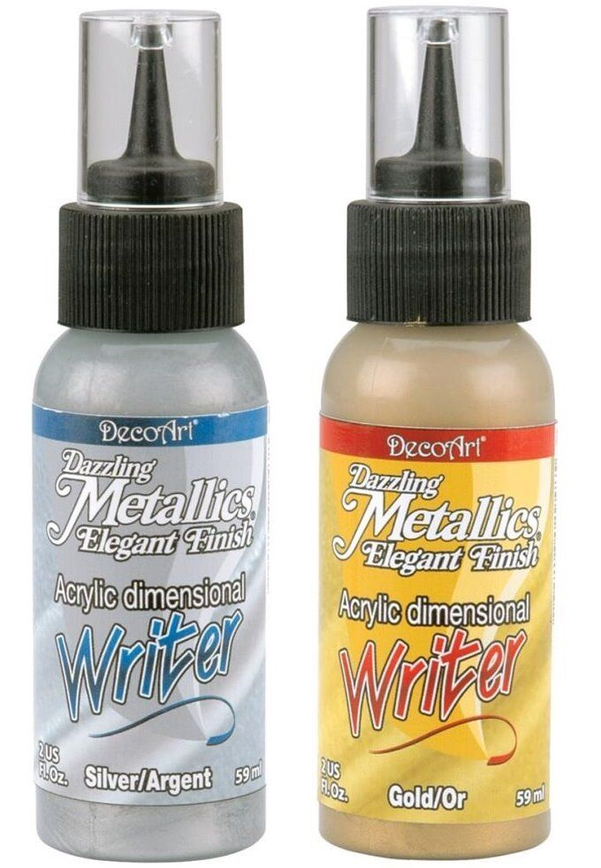 Dazzling Metallics Acrylic Paint Writers 2oz Silver or Gold