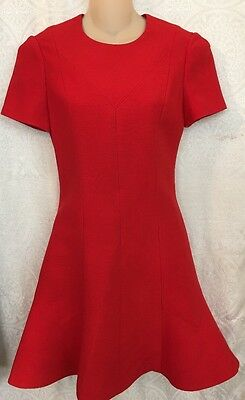 Louis Vuitton Red Skater Dress Flared Bottom Short SleeveNWT$2050 Size 34