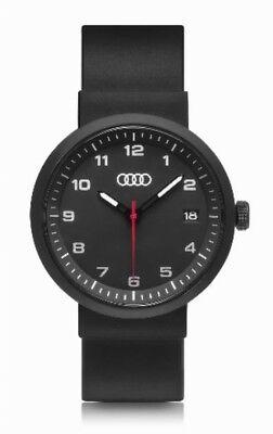 Original Audi Uhr, Audi Uhr schwarz, Audi Armbanduhr, -NEU/OVP-