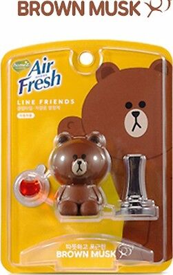 [Line Friends] Brown Characters Car Clip Vent Air Freshener _Aromatic Musk Scent