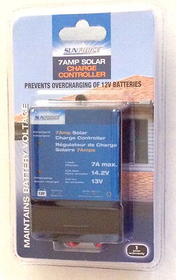 NEW-7 AMP SOLAR CHARGE CONTROLLER-SUNFORCE Sunforce Solar Charge Controller