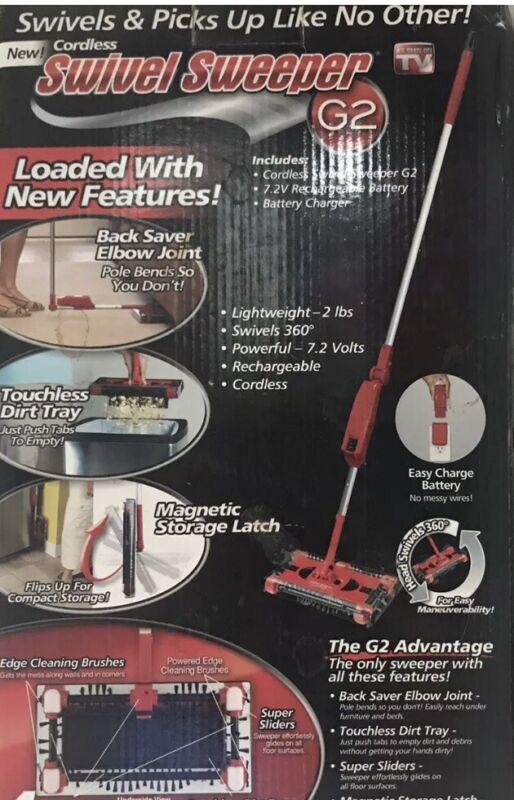 NEW OnTel Cordless SWIVEL SWEEPER G2 4 Quad-Brush Technology - As Seen on TV