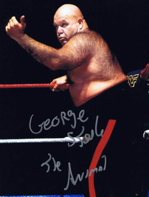 George The Animal Steele Signed Autographed 8x10 Photo - w/COA WWE Hall Of Famer
