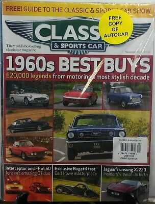 Classic & Sports Car Nov 2016 1960's Best Buys Bugatti Jaguar FREE SHIPPING